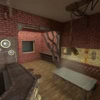 стиль дома в стиле стимпанк с эффектом старины картинка