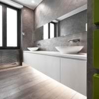 стиль потолка с бетоном на кухне фото