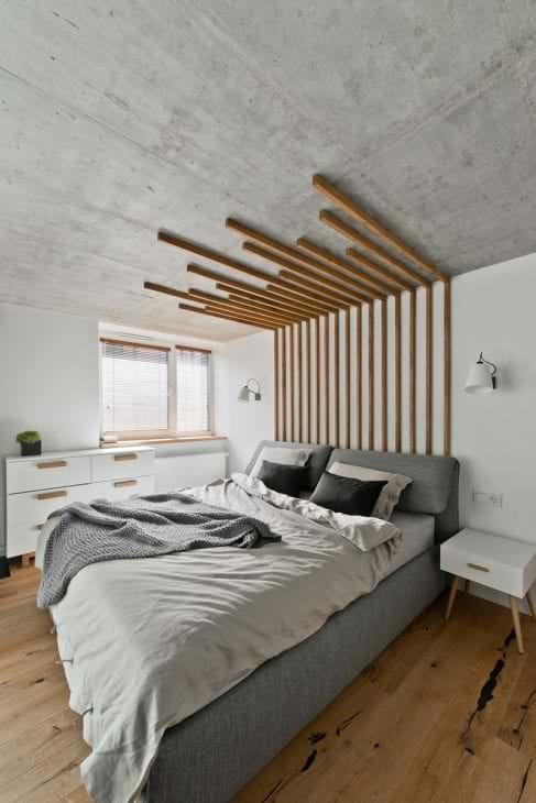 стиль потолка с бетоном в квартире