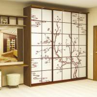 стиль шкафа в гостиной из дерева картинка