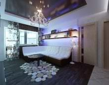 стильный декор гостиной в стиле хай тек картинка