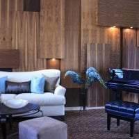 светлая гипсовая 3д панель в гостиной фото