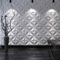 светлая алюминевая 3д панель в прихожей фото