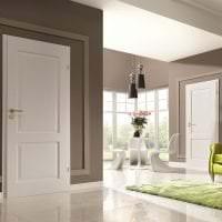 светлые двери в дизайне коридора фото