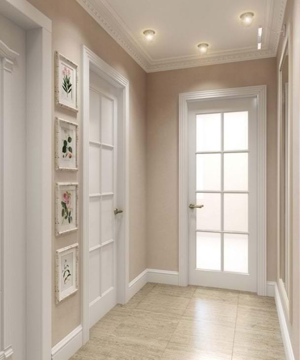 только белые двери в интерьере квартиры фото краснодаре