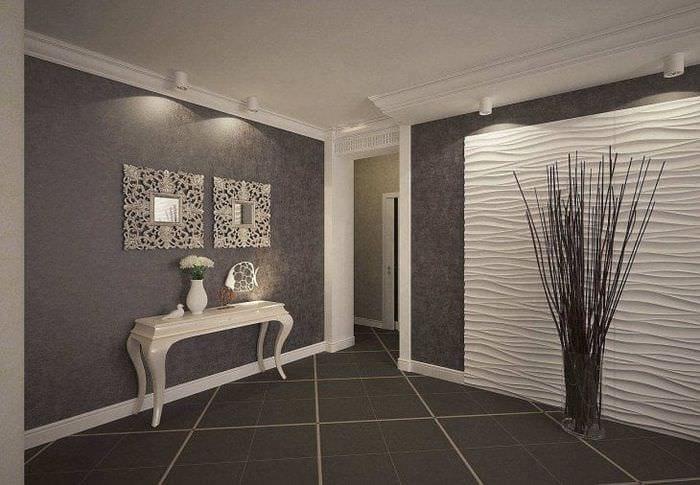 белые двери в интерьере с оттенком шоколадного