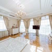 яркий белый дуб в стиле гостиной картинка
