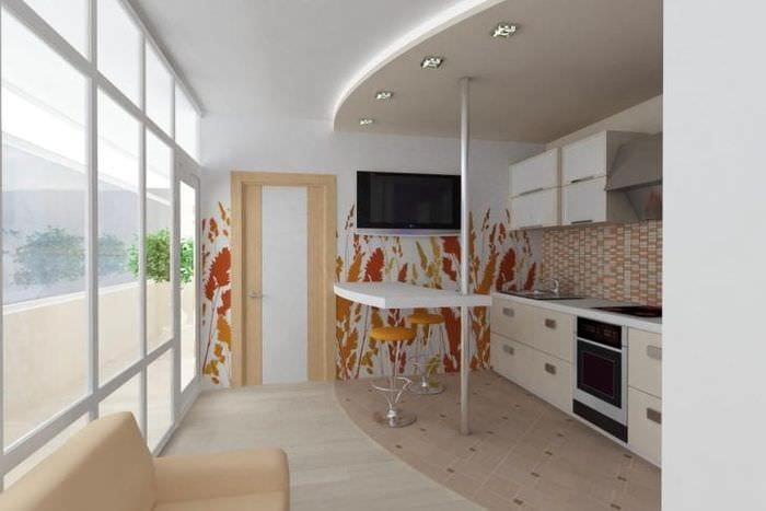 красивый белый пол в дизайне гостиной