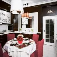 красивый декор спальни в шоколадном цвете картинка