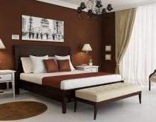 яркий стиль квартиры в шоколадном цвете фото