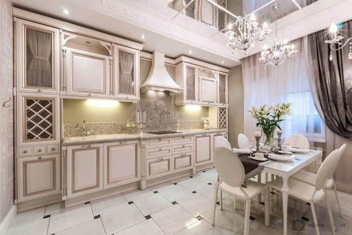 яркий декор гостиной в французском стиле
