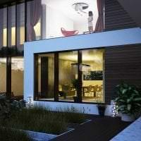 яркий стиль дачи в архитектурном стиле картинка
