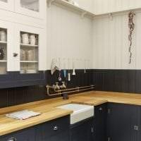 яркий дизайн бежевой кухни в стиле эко фото