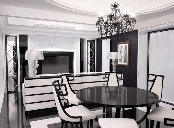 красивый дизайн комнаты в стиле деко арт