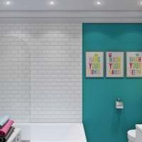 светлый дизайн комнаты в различных цветах картинка