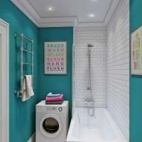 светлый дизайн коридора в бирюзовом цвете фото