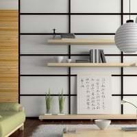 светлый дизайн прихожей в японском стиле фото