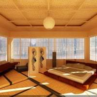 красивый интерьере кухни в японском стиле картинка