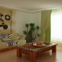 яркий интерьер спальни в африканском стиле фото