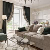красивый интерьер квартиры в американском стиле картинка
