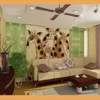 светлый декор спальни в африканском стиле картинка
