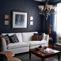 яркий дизайн квартиры в шоколадном цвете фото