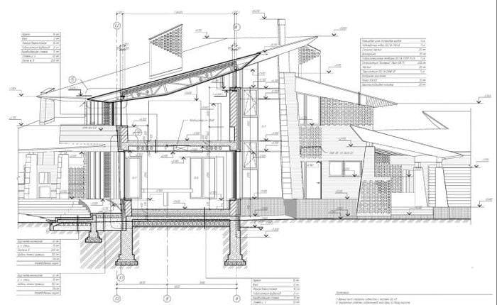 яркий стиль дома в архитектурном стиле