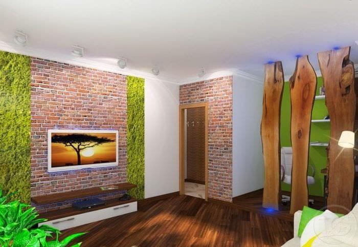 насыщенный эко стиль коридора
