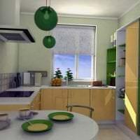 красивый интерьер бежевой кухни в стиле хай тек фото