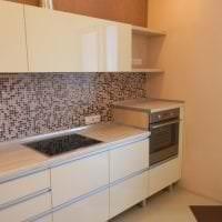 яркий интерьер бежевой кухни в стиле япония картинка