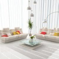 яркий интерьер спальни в белых тонах картинка