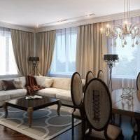 яркий дизайн комнаты в стиле арт деко фото