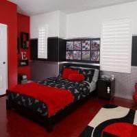 яркий интерьер комнаты в различных тонах фото