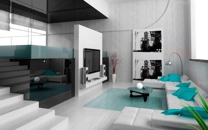 стильный дизайн спальни в стиле хай тек