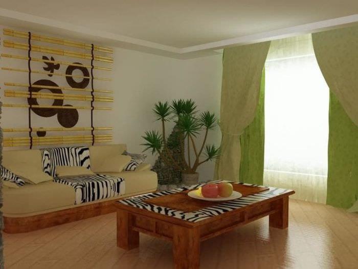 светлый декор квартиры в африканском стиле