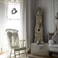 светлый интерьер квартиры в стиле шебби шик фото