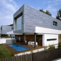 яркий дизайн дома в архитектурном стиле фото