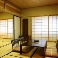 яркий дизайн коридора в японском стиле картинка