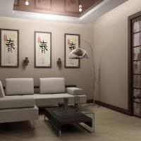 светлый декор прихожей в японском стиле картинка