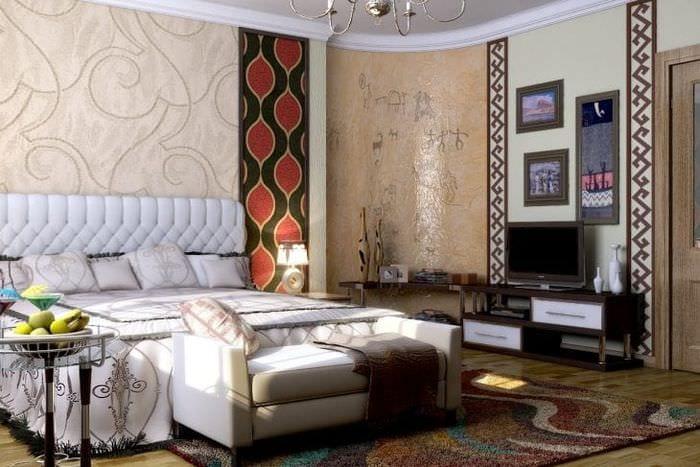 светлый декор квартиры в этническом стиле