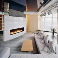 красивый стиль гостиной в стиле хай тек картинка