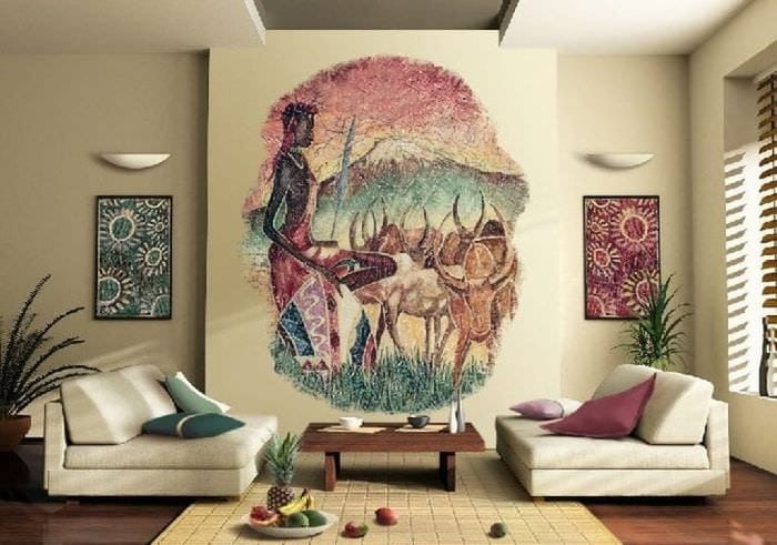 необычный интерьер кухни в африканском стиле