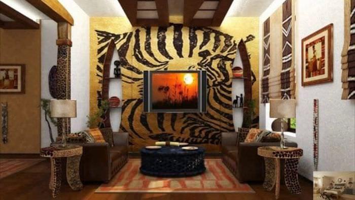 светлый дизайн спальни в этническом стиле