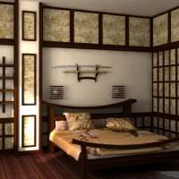 светлый дизайн гостиной в японском стиле фото