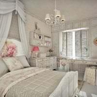 светлый декор комнаты в стиле шебби шик фото