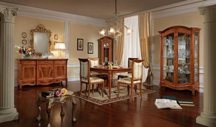 светлый терракотовый цвет в стиле гостиной