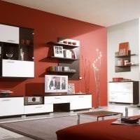 приятный терракотовый цвет в дизайне коридора фото
