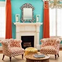 яркий терракотовый цвет в интерьере прихожей картинка