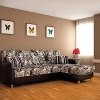 красивый угловой диван в стиле прихожей фото