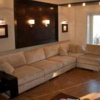 кожаный угловой диван в дизайне коридора фото